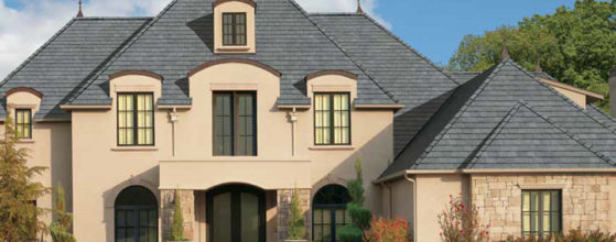 Beautiful custom roof using grey gaf shingles from gold standard restorations the best roofers in hoffman using gaf roofing shingles - hoffman estates, schaumburg, elk grove village, des plaines, chicago, illinois